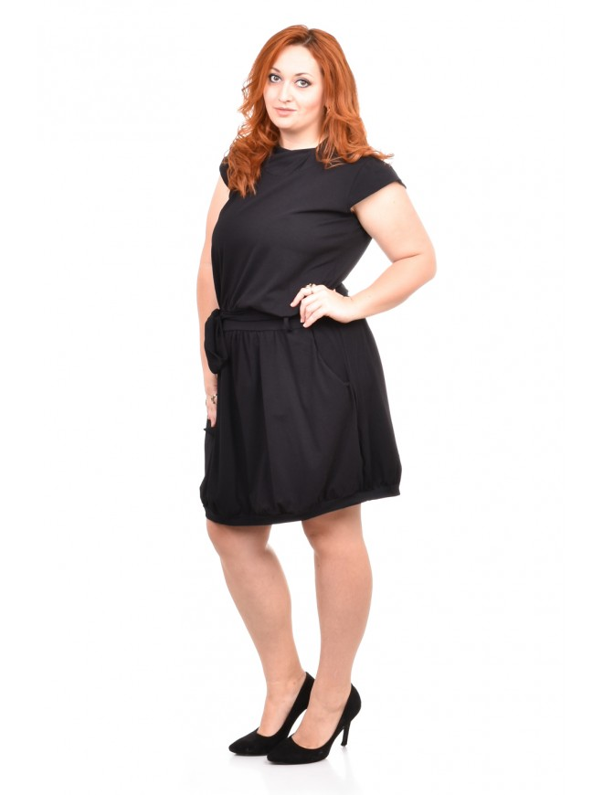 Rumena Black Dress