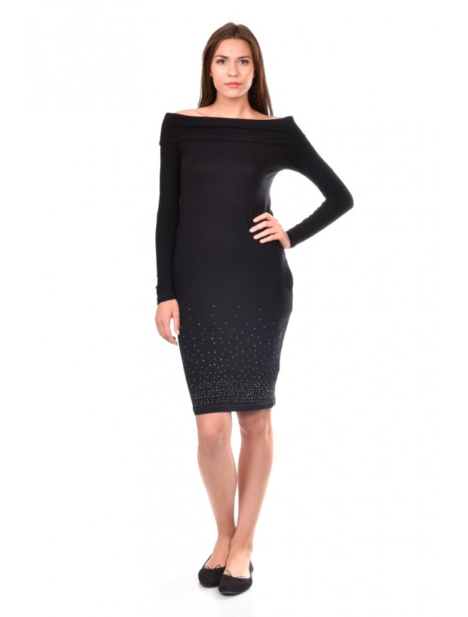 Black Knitwear Dress Nadejda-Marina