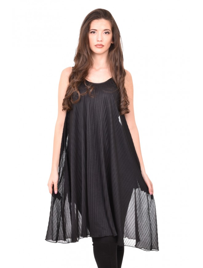 Black pleated tunic Zhaki