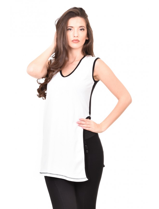 Black and white tunic Siliana