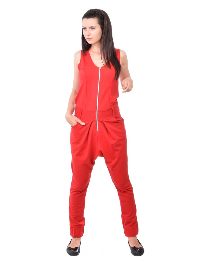 Zhenimira Red Jumpsuit