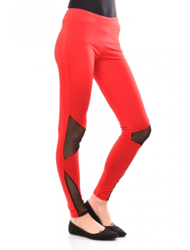 Red leggings with tulle Monina