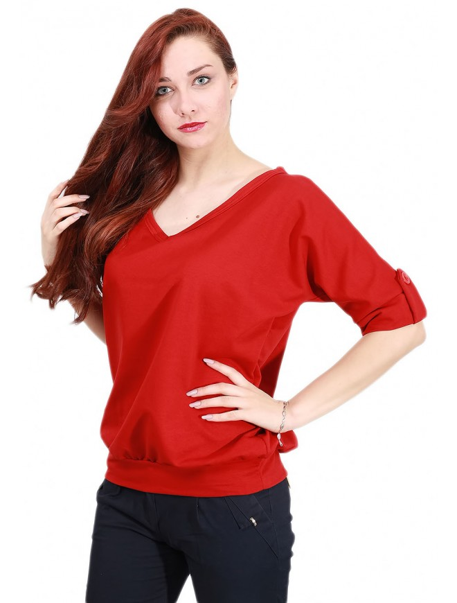 Carrie Red Blouse