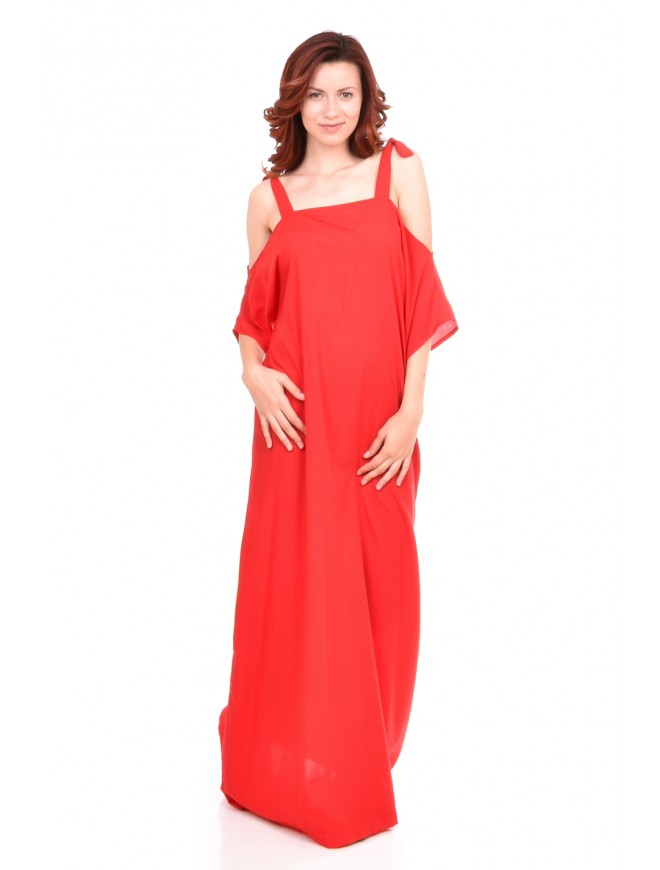 Red women dress Yoana-Galina