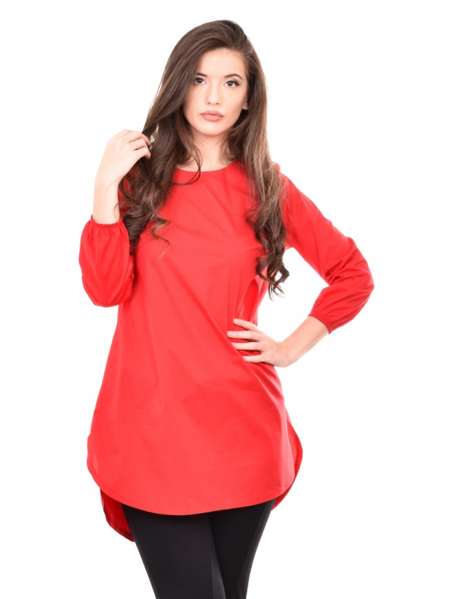 Flared tunic in red Emel