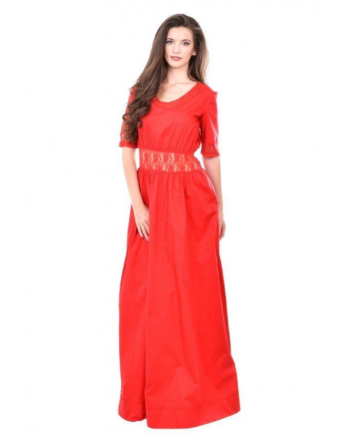 Long dress in red Vladiana