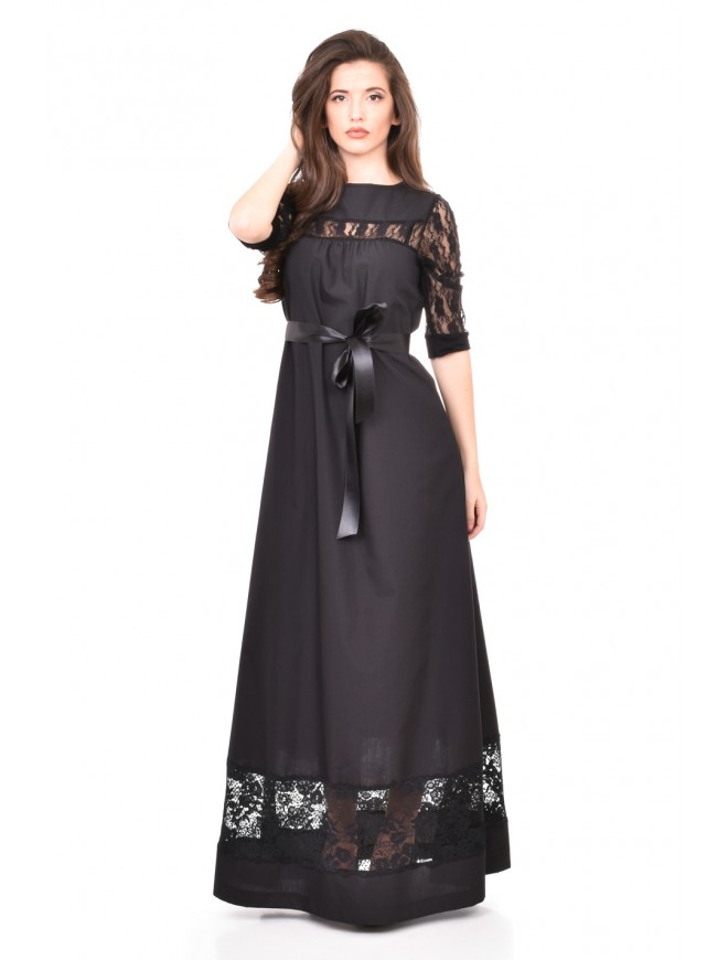 Long dress with belt Karina-Nikol
