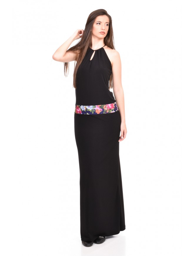 Long dress in black Delila
