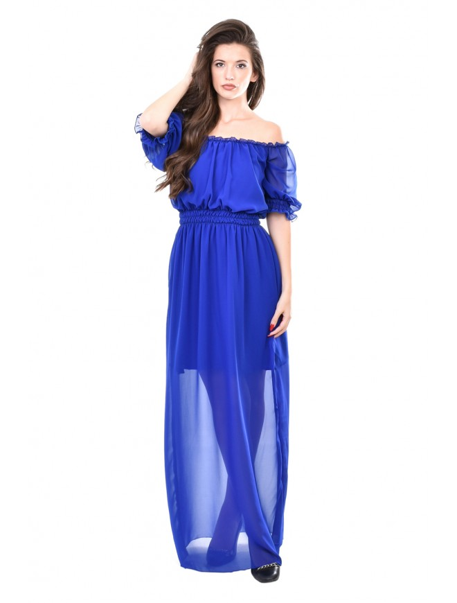 Long dress in dark blue Desislava