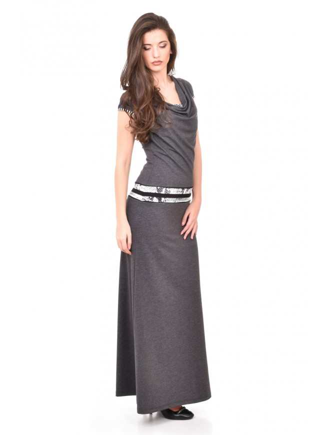 Long dark gray dress Zhanislava