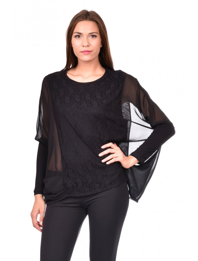 Ladies' blouse in black Ralitsa