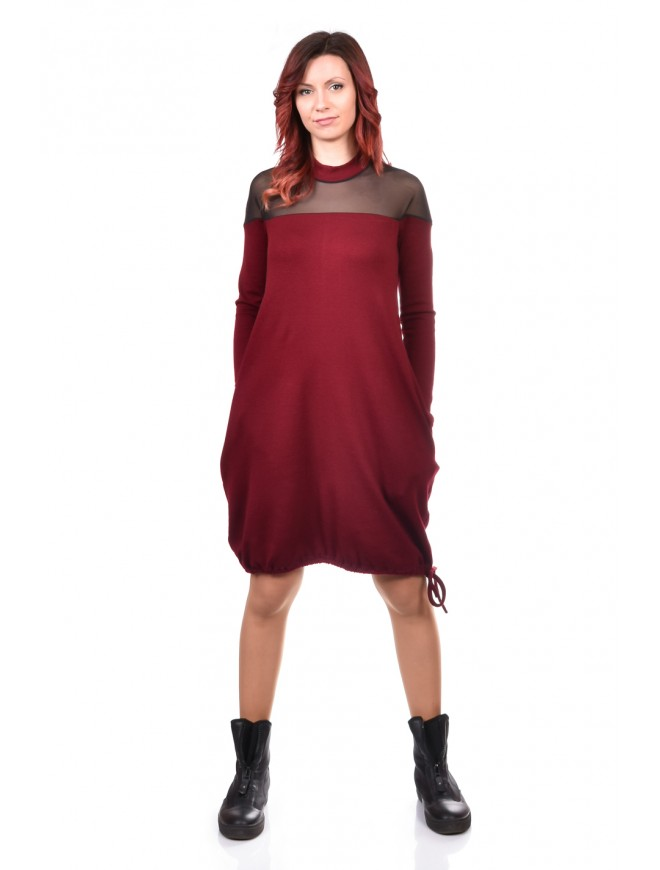 Ladies Dress in Bordeaux Dorostela