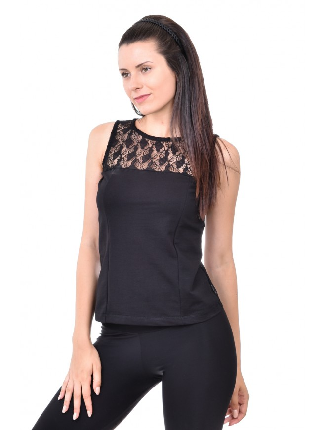 Ladies vest in black Sevdarina