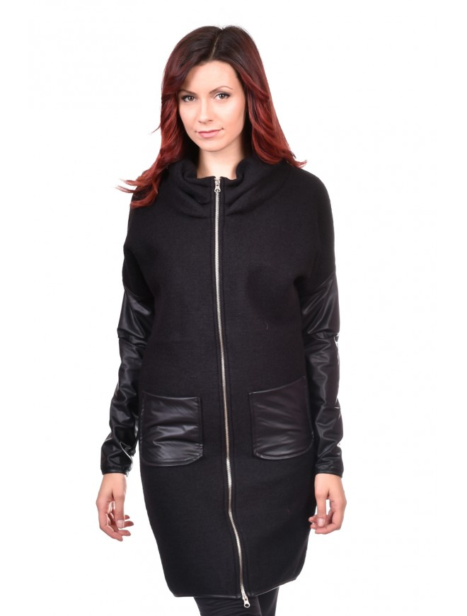 Ladies Coat in Black Nionila