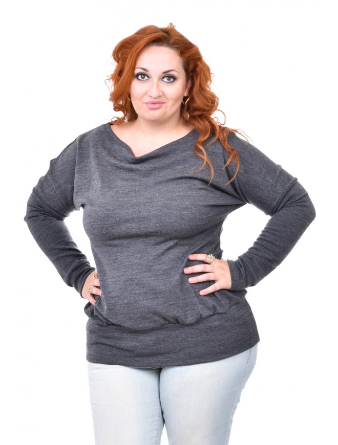 Bozana Dark Gray Blouse