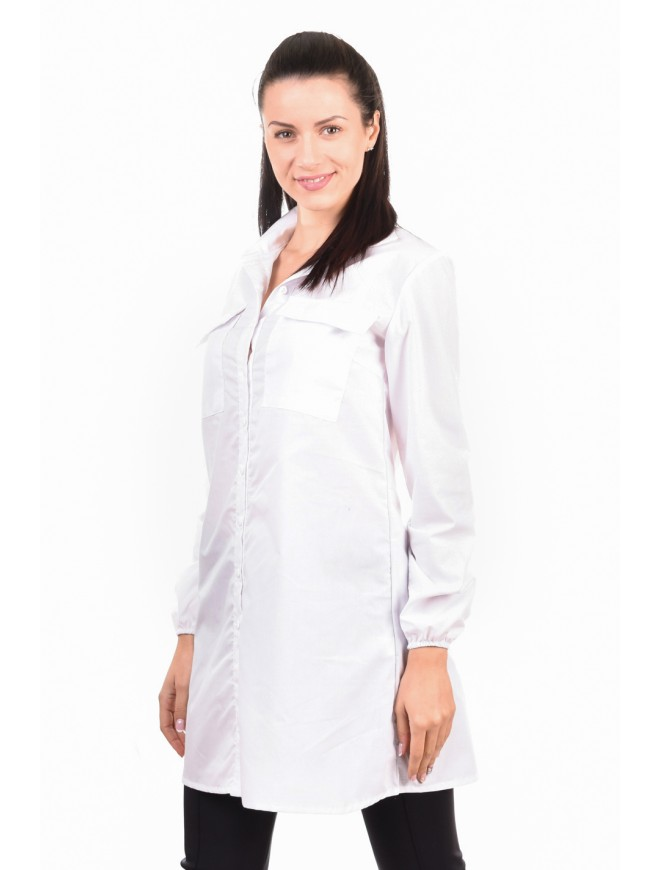 Fashion white cotton blend shirt Miya-Diya