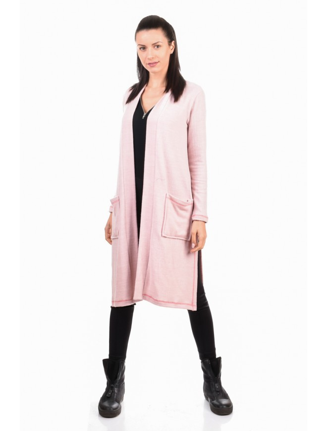 Knitted knee length cardigan Dionna
