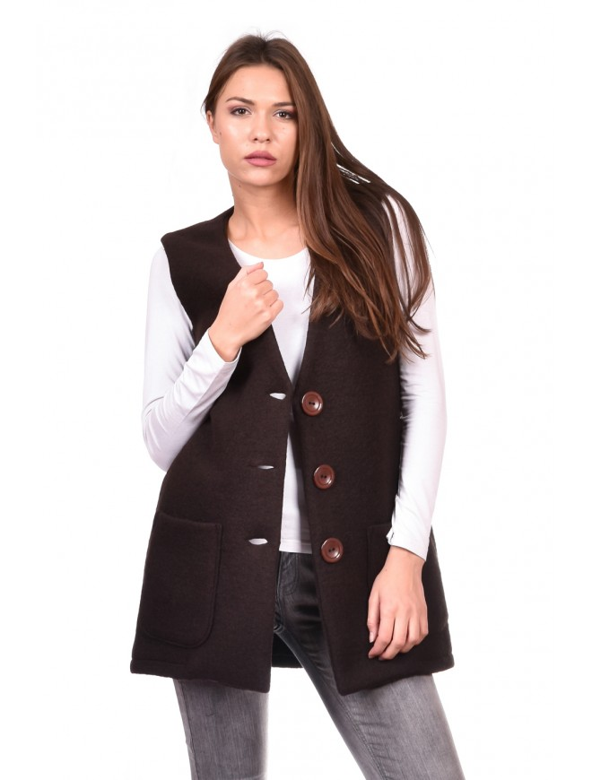 Vest in brown Bronzomira