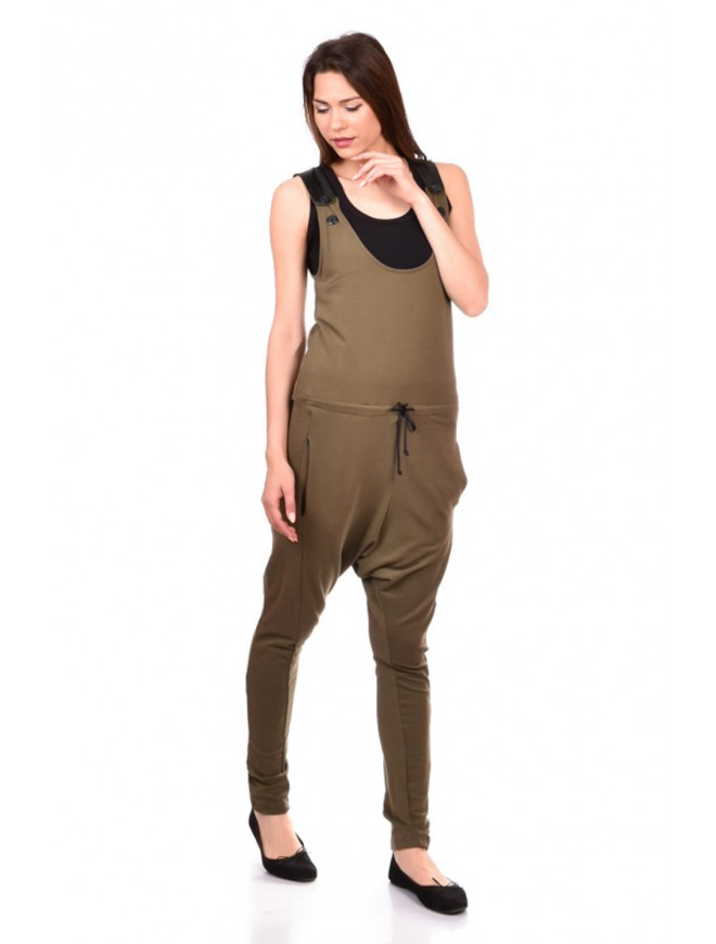 Jumpsuit in Army Green Roazlinda