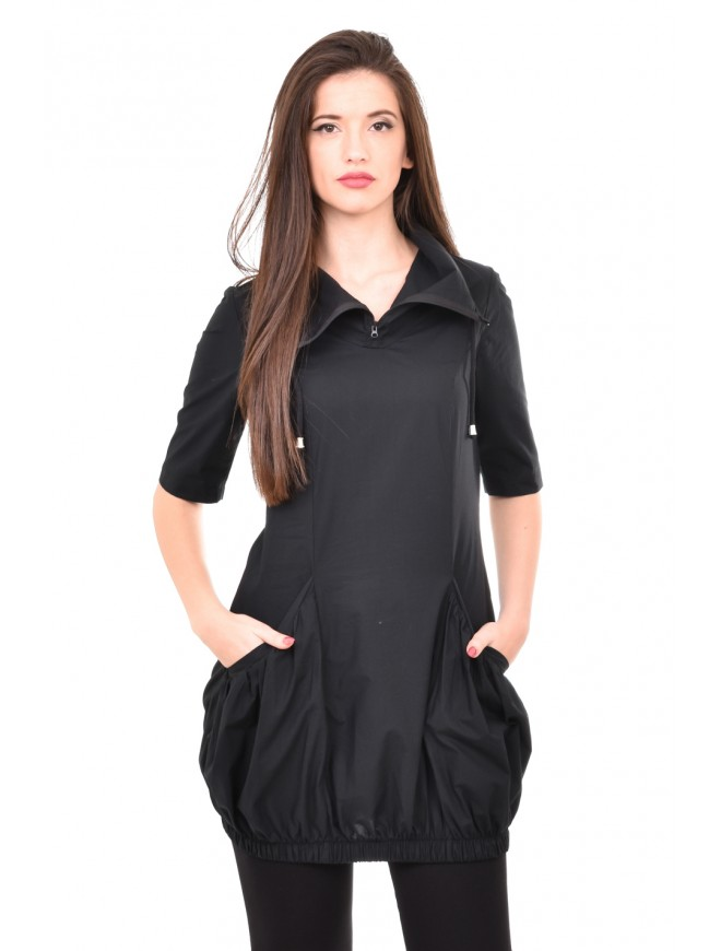 Interesting black-bubble tunic Ilina
