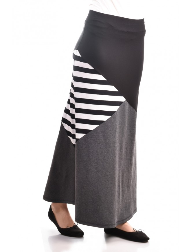 Stylish patchwork long skirt Mary-An