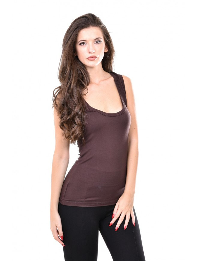 Brown tank top Kalinka
