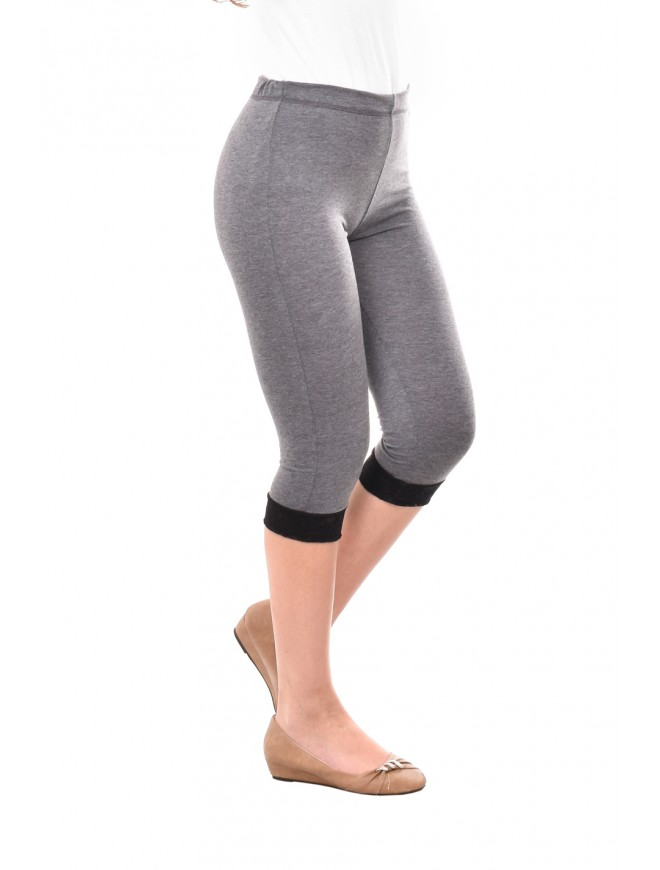 Dark gray leggings with lace Iberia