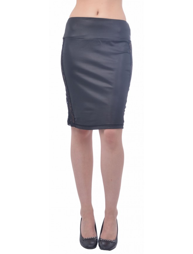 Veselena Leather Skirt