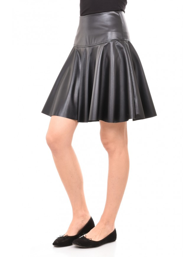 Leather flared skirt Dafni