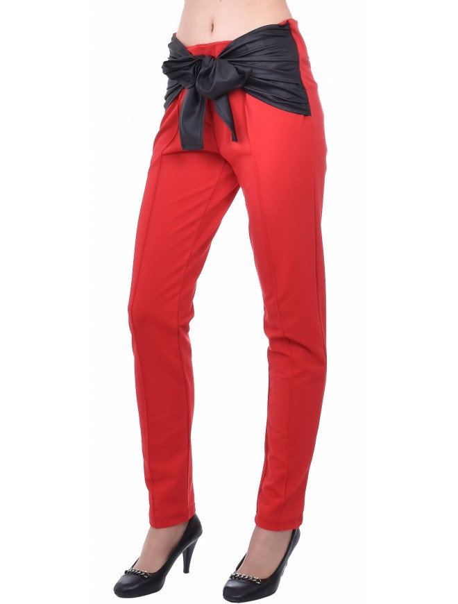 Lubomira Trousers in Red