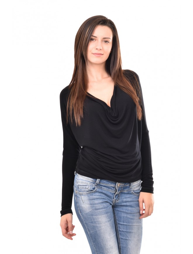 Knitted blouse with greek neckline Alekseya