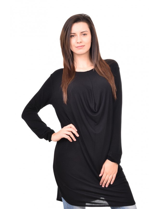 Knitted tunic with long sleeves Deni