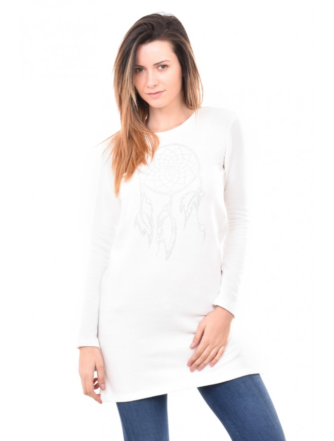 Knitted tunic with decoration Maurinya