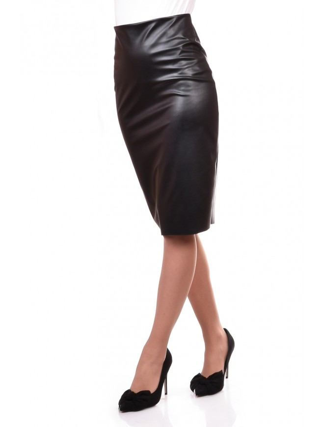 Skirt from eco Leather Berislava