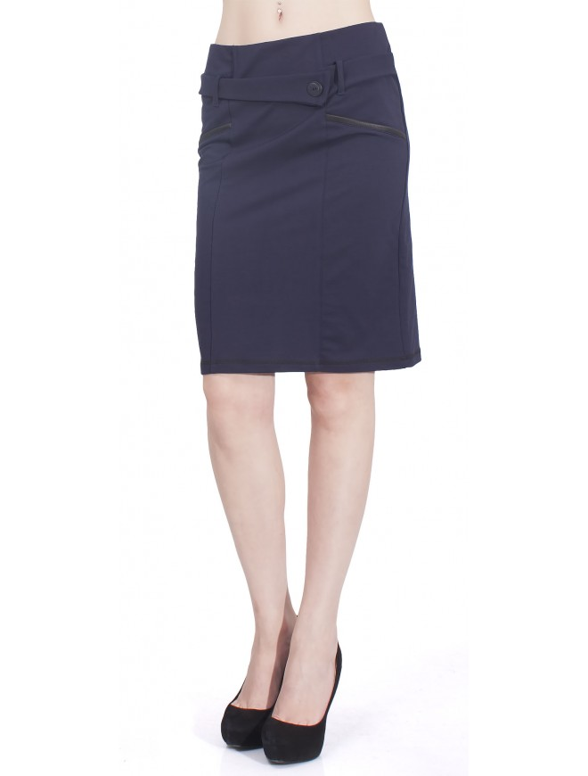 Romena Dark Blue Skirt