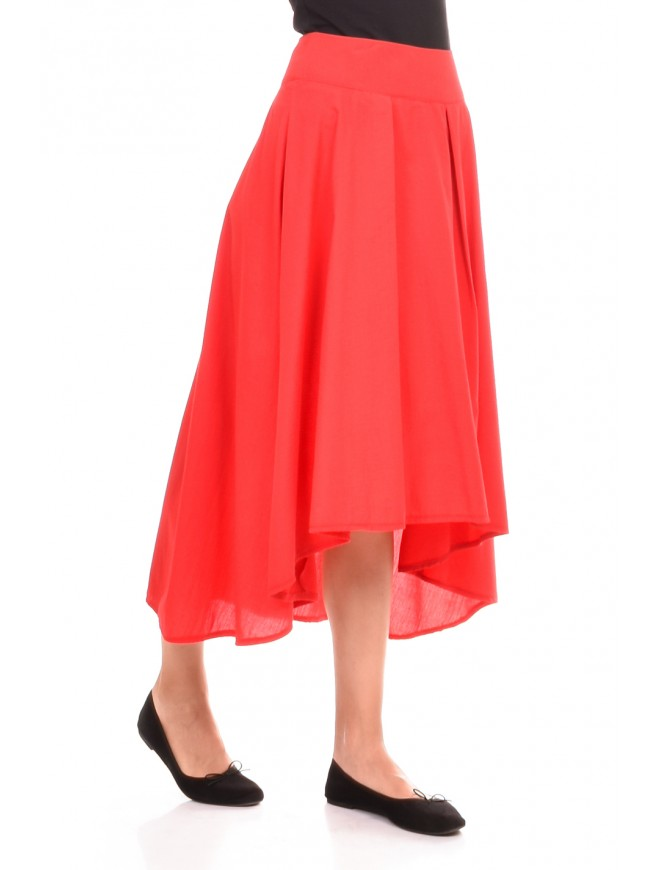 Skirt in red color Siana-Kalina