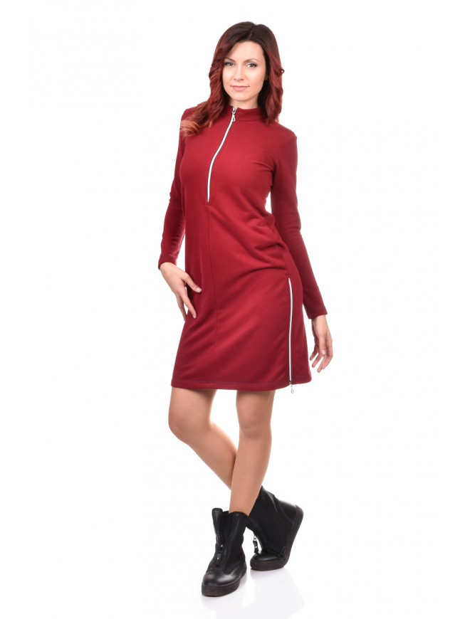 Dress-Tunic in Bordeaux Nadiusha