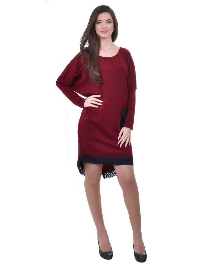 Christiana Dress in Bordeaux