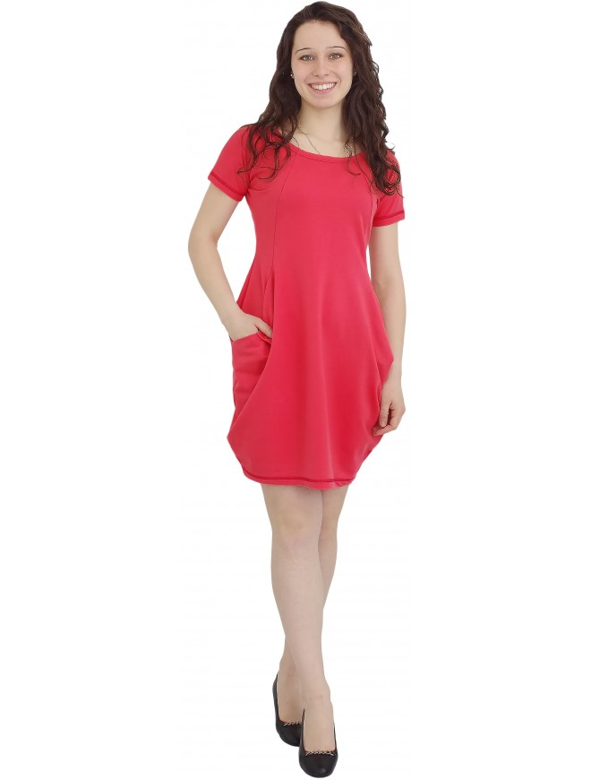 Catherina Dress in Coral