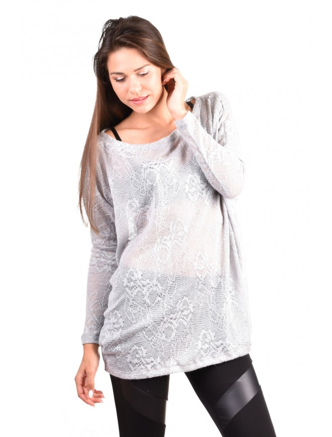 Gray knitted blouse Stoyana