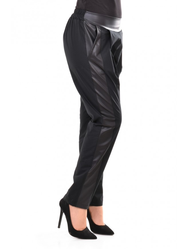 Stylish black trousers-breeches Savina