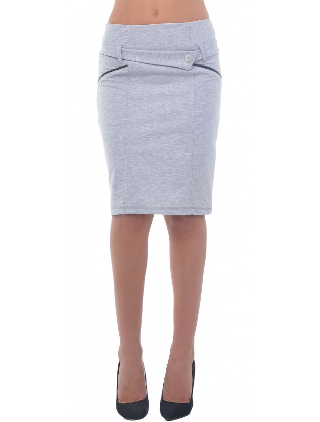 Romena Light Gray Skirt