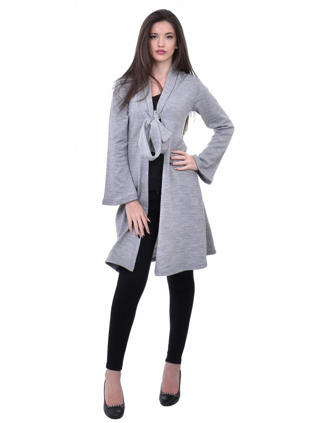 Radiana Light Gray Cardigan