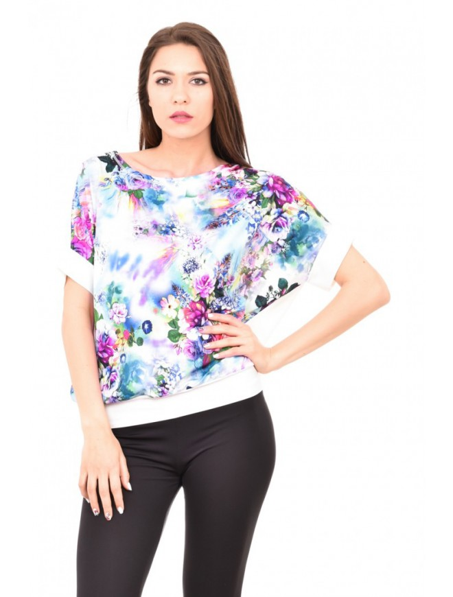 Loose fit floral blouse Snaya