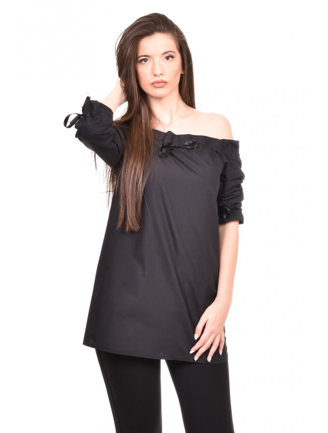 Loose fit tunic in black Darma