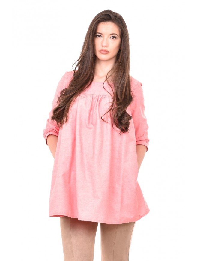 Flared tunic in peach colour Daliana