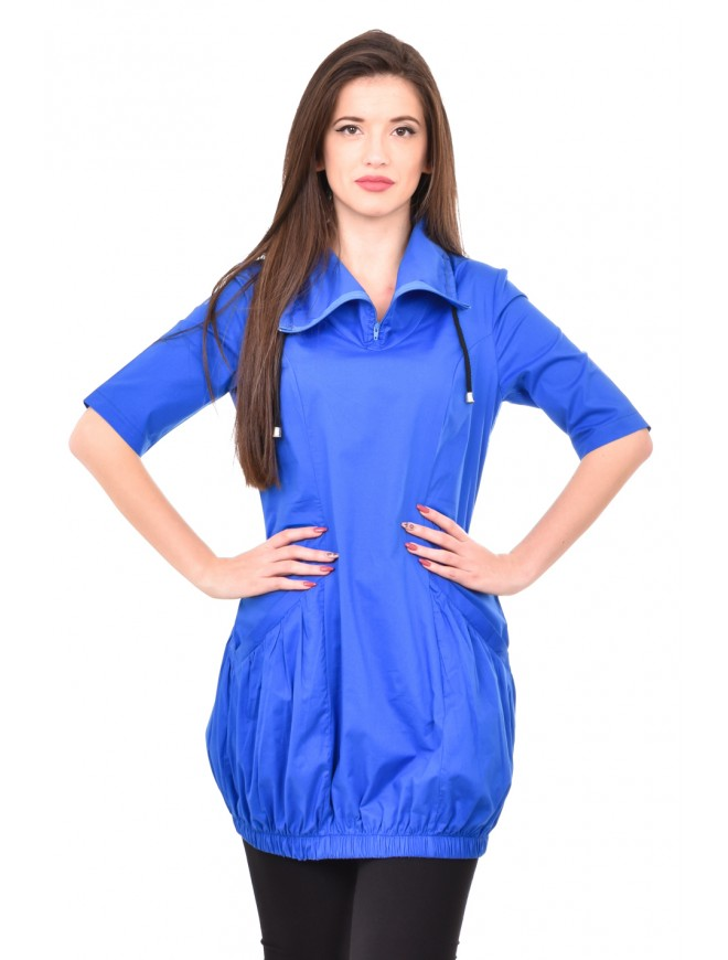 Dark blue tunic with short sleeves Ilina