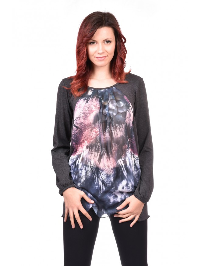 Dark grey blouse Demna