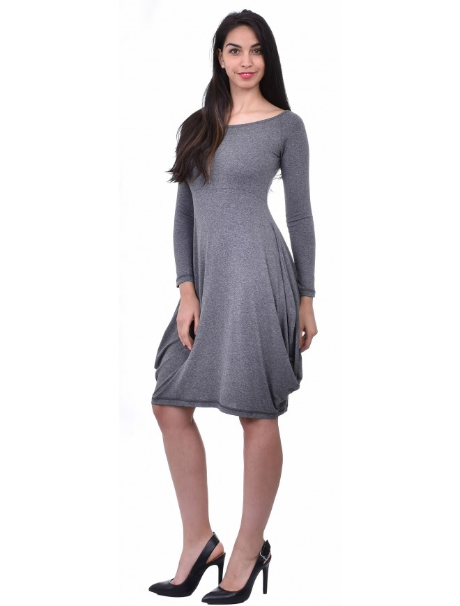 Andreana Dark Gray Dress