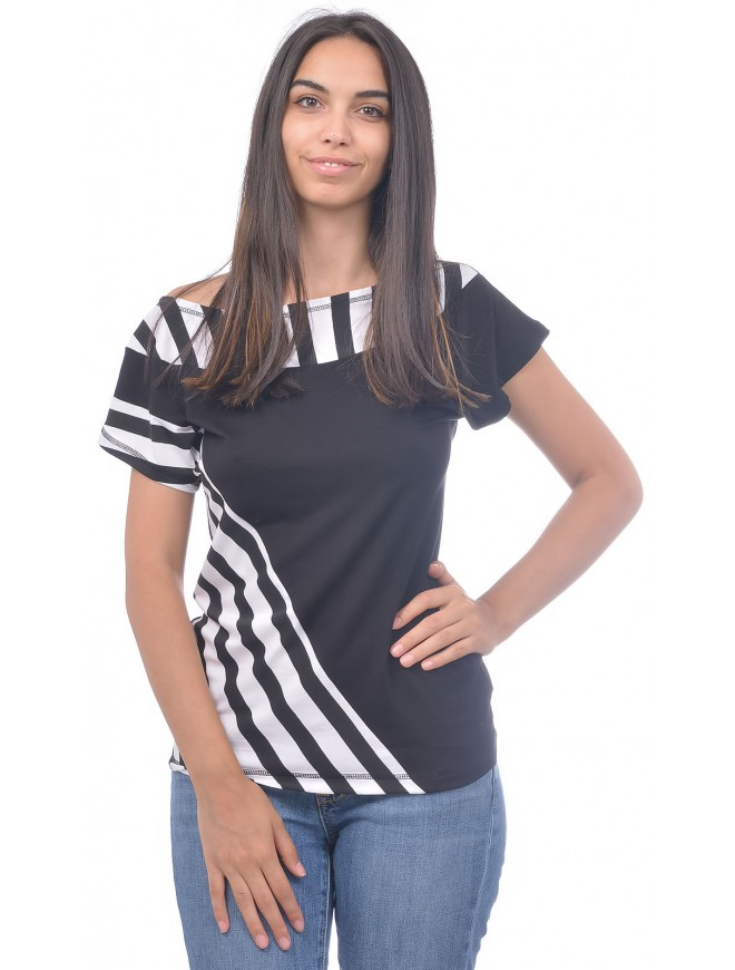 Snezina Top with Short Sleeves